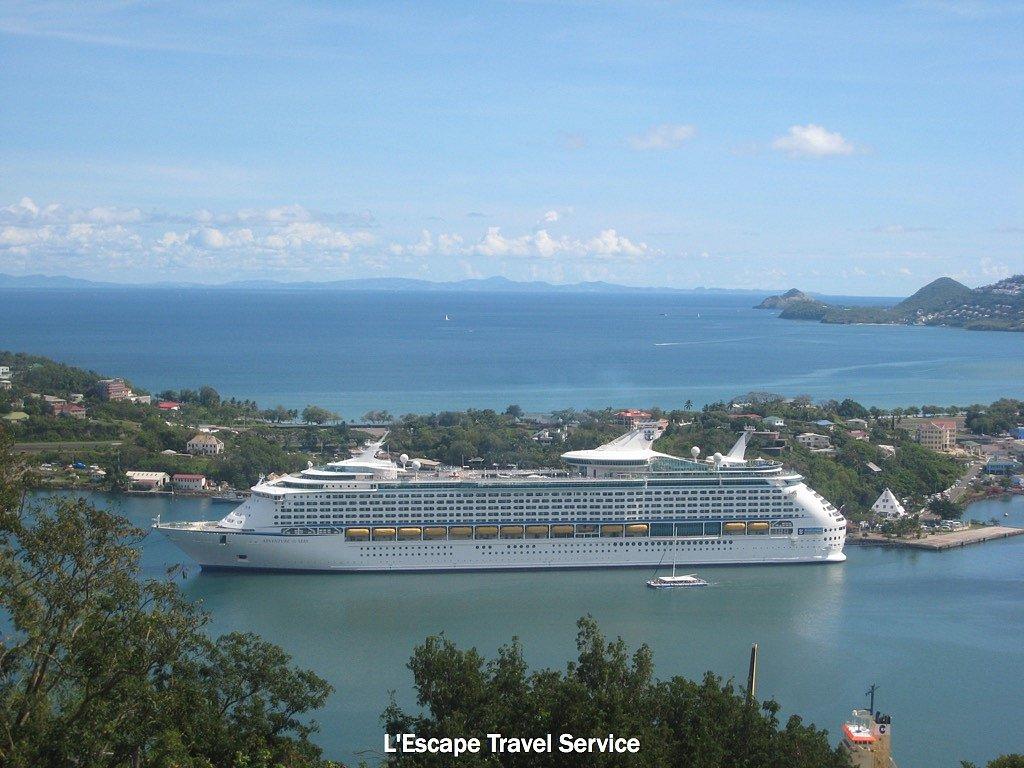 Caribbean Cruise Ship in Port