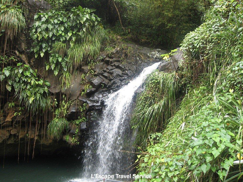 Caribbean Island Waterfall